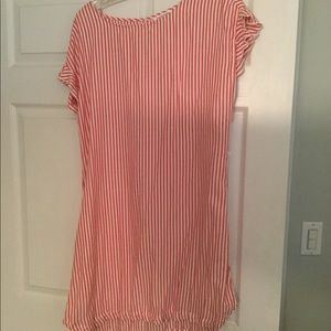 Beach lunch lounge striped dress large